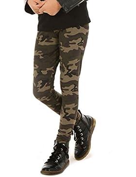 Camouflage Mädchen Thermo Leggings Leggins Hose Militär Winter Herbst 116-158