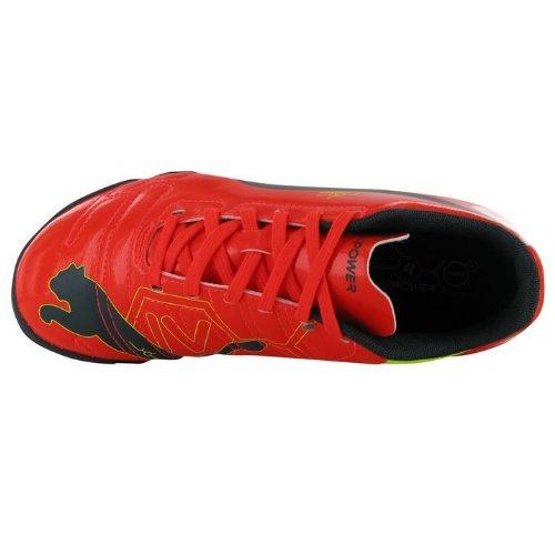 Puma evoPOWER 4 Schnürschuhe Sneaker Astro Turf Herren Sportschuhe Peach/Blue