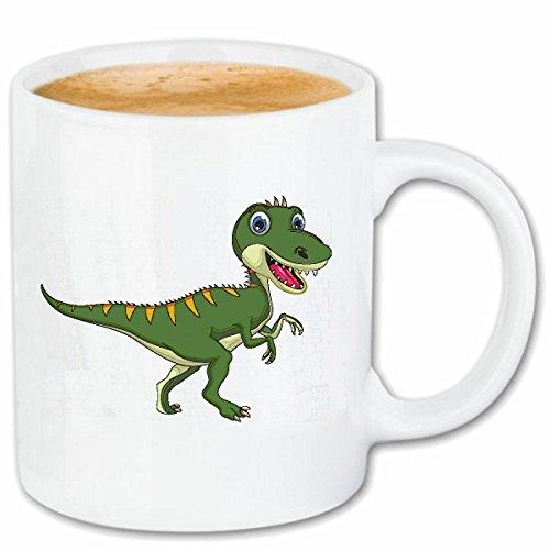 """taza para café """"DINOSAURIO FELIZ DEL REPTIL Urzeit DEPREDADORES herbívoros LAGARTOS POOL DINOSAURIO VOGEL CUENCA Tyrannosaurus Rex"""" Caso duro de la cubierta Teléfono Cubiertas cubierta para el330 ml de cerámica en blanco"""