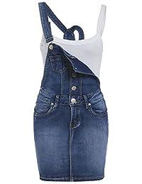 SS7 NEUF pour femmes jeans Salopette robe, Mi bleu, Tailles 8 pour 14