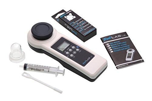 POWERHAUS24 Special Edition 11 in 1 PoolLAB 1.0 Elektronischer Wassertester Photometer für Pool und Whirlpool mit Gratis Ersatzküvette Extra