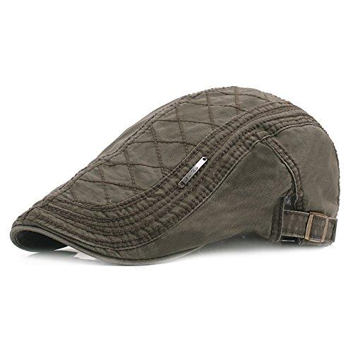 Weibliche Mützen, Vier Jahreszeiten Verstellbare Atmungsaktive Kappe, Eine Vielzahl von Farben Fahrer Flat Hat Beret,Green ()