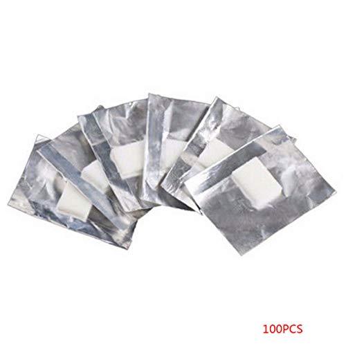Babysbreath17 100pcs Papel Aluminio Envolturas uñas