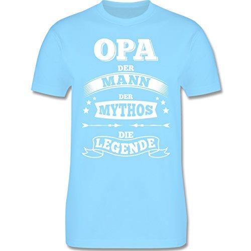 Shirtracer Opa - Opa Die Legende - Herren T-Shirt Rundhals Hellblau