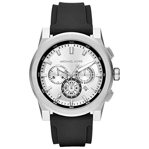 Michael Kors Men's Analogue Quartz Watch with Silicone Strap MK8596