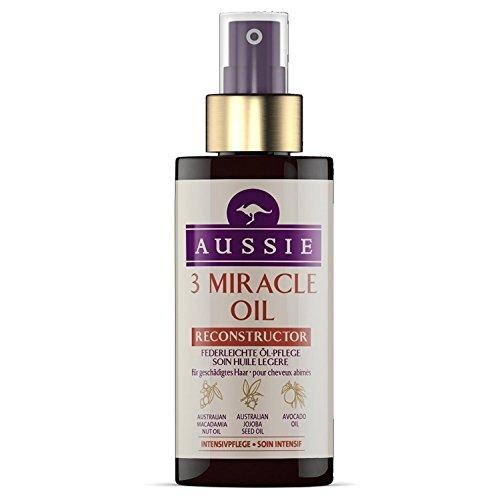 Aussie Soin 3 Miracle Oil Reconstructor pour cheveux abîmés 100 ml