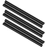 com-four® 3X Zugluftstopper für die Tür - Mikrofaser Türbodendichtung - Luftzugstopper mit Doppeldichtung - Schutz vor Luftzug und Lärm - 86 cm (003 Stück)