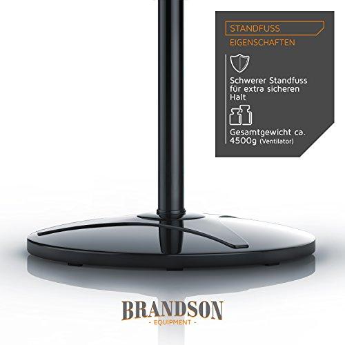 Brandson – Standventilator 40cm / schwarz - 5