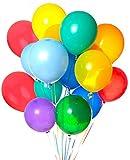 Palloncini,Coofit 100 Pezzi Palloncini Lattice Palloncini Colorati Decorazioni Feste