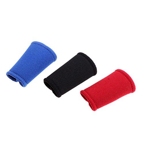 D DOLITY 3 Pcs Elastische Fingerhülle Schutz Fingerband Sport-Fingerbandage Fingerhülse Daumen Finger-Schützer - 40mm fit Kleiner Finger