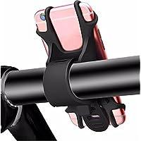 WeiMay Soporte para teléfono Premium Bike hecho de silicona antideslizante ajustable - NUEVO: para todos los teléfonos inteligentes modernos - Seguro, flexible y amortiguador - Silicon