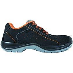 Exena Antigua - Calzado de protección laboral, talla 45, color negro