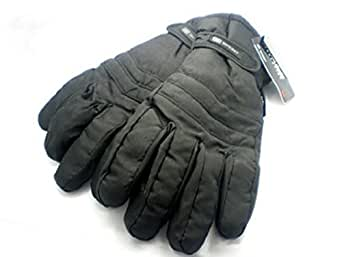 Mens Warm 3M Thinsulate Lined Thermal Padded Black Ski Gloves M/ L
