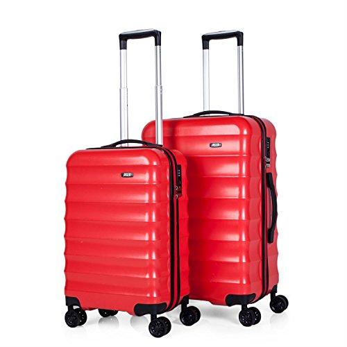 Jaslen juego de dos maletas con ABS y TSA - Rojo