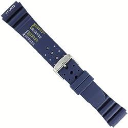 """Uhrbanddealer 22mm Ersatzband Uhrenarmband Blau""""Taucher"""" Silikon Band, ND Limits typ,19222"""