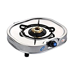 Suraksha Shine Smart Stainless Steel 1 Burner Gas Stoves. (One Burner).