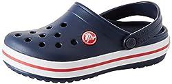 crocs Crocband Clog Kids, Unisex-Kinder Clogs, Blau (Navy/Red), 34/35