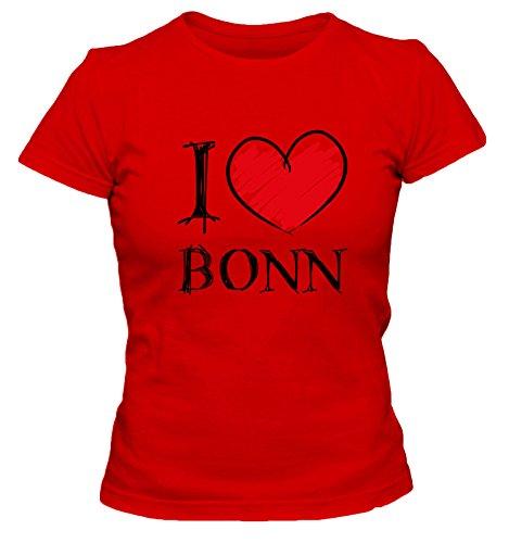 I love Bochum FUN Damen T-Shirt, Größe:XL;Farbe:rot