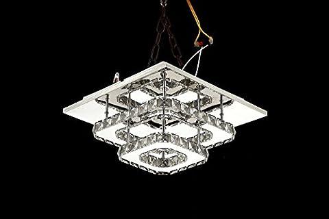 Moderne einfache LED quadratische Kristall Lampe Halle Gang Wohnzimmer Schlafzimmer Deckenbeleuchtung Beleuchtung (weißes Licht) 30X30X15CM