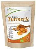 Polvo Orgánico de Cúrcuma (500g), MySuperFoods, Alta concentración de Vitamina C, Calcio,...