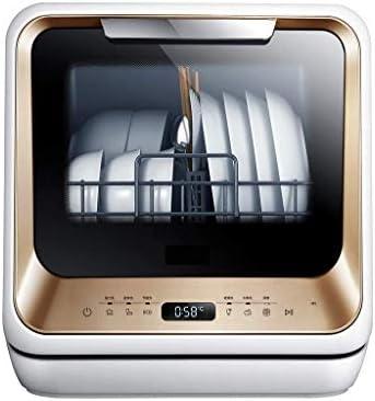 Gpzj Lavavajillas portátil - Secadora de Platos pequeña y compacta sobre encimera para Apartamentos, Casas rodantes, oficinas, Cocina - Capacidad de configuración de 5L - Blanco