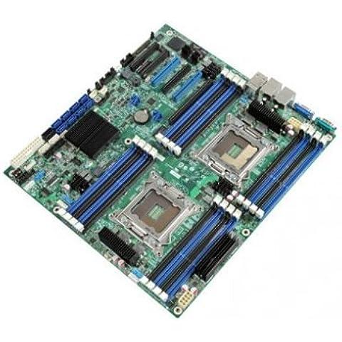 Intel DBS2600CP2 - Placa base para servidor, socket LGA2011, Dual Xeon E5, 16 ranuras DIMM, 1600
