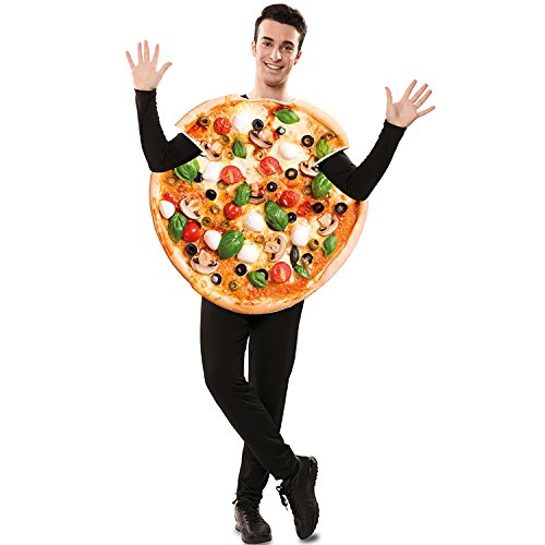 EUROCARNAVALES Kostüm Pizza Funghi Gr. M/L unisex Italien Pizza Lebensmittel Fasching Karneval ()