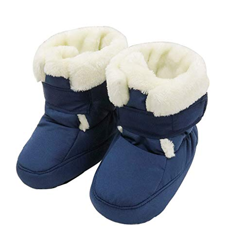 KVbabby Baby Winter Warm Fur Boots Keep Warm Soft Sole Snow Boots Soft Crib Shoes Toddler Boots