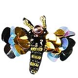 MoGist Kleidung Patches Niedlich Insekten Serie Zirkon Pailletten Stickerei Patch Sticker Aufkleber Applikation für Kleidung Jacken Jeans (Klein Libelle)