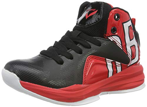 Elaphurus Herren Jungen Basketballschuhe Hohe Sneakers(Rot 44EU)