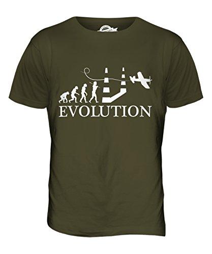 CandyMix Luftrennen Air Race Evolution Des Menschen Herren T Shirt Khaki Grün