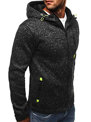 Ncenglings Herren Strickjacke Cardigan Beiläufige DünneStrickpullover mit Kapuze Kapuzenpullover Pullover Männer Hoodie Winter warme Fleece Zipper Sweater Jacke Outwear Mantel -