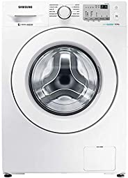 Samsung 8 Kg 1200 RPM Diamond Drum, Front Load Washing machine with Eco Bubble, White - WW80J4213KW, 1 Year Wa
