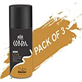Deodrant For Men Cobra LIVE Limited Edition Spray 150ml Pack Of 3