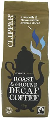 Clipper Fairtrade Organic Decaffeinated Roast and Ground Arabica Coffee 227 g (Pack of 2) by Clipper Teas Ltd.