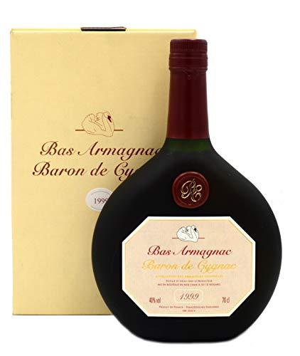 Rarität: Armagnac Baron de Cygnac 0,7l Jahrgang 1999 inkl. Geschenkkarton