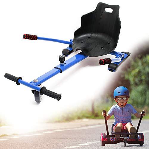 Wiltec Siège de Scooter en Bleu Siège de Kart Ajustable Pour Adulte et Enfants Elektroscooter 120 kg max.