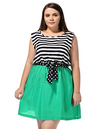 Agnes Orinda Femmes Grande Taille Décolleté Douce Style Mini robe été Teal