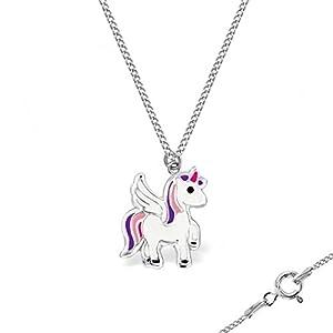 GH* KIDS Mini Pegasus Armband / Fußkette 925 Sterling Silber Mädchen Kinder Baby Einhorn Pferd Emaille