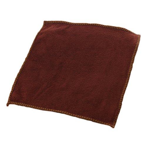 Dosige 10 Stück Autowaschtuch Reinigungs Kfz-Reinigung Handtuch/Waschlappen Automobil Handtuch Ultrafeinen Fasertuch Nano 25cm x 25cm (Braun)