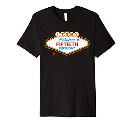 Las Vegas Schild Fabulous 50. Geburtstag T-Shirt