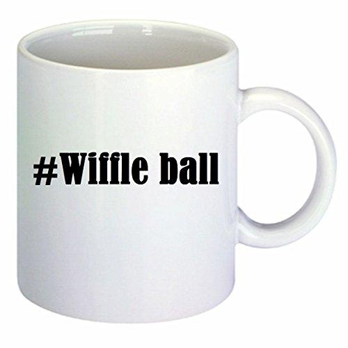 Kaffeetasse #Wiffle Ball Hashtag Raute Keramik Höhe 9,5cm ? 8cm in Weiß
