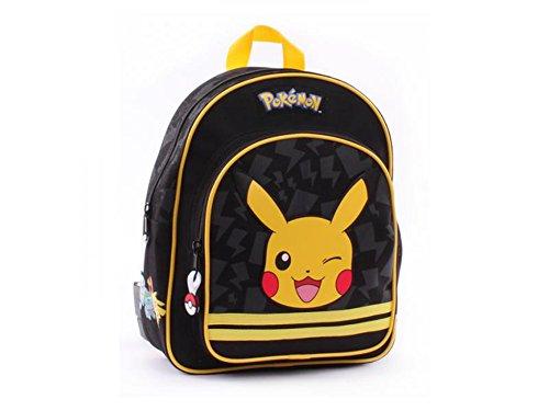 Pokemon-Mochila-infantil-negro-negro-amarillo