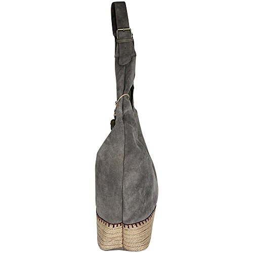ANOKHI Damen Beuteltasche POCAHONTAS ESPANDRILLES Stone, Grau