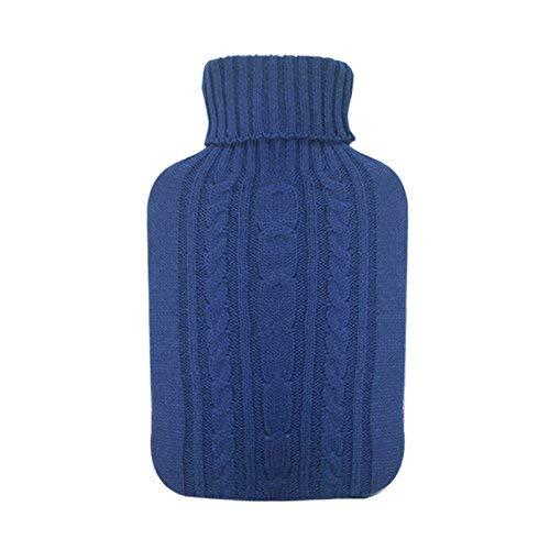Hugo Frosch - Wärmflasche blauer Strick-Bezug 1,8l