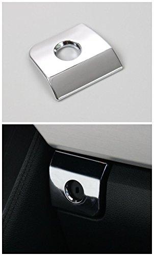 Preisvergleich Produktbild Auto Beifahr Schalterabdeckung der Aufbewahrungsbox Ablagefach Deckel Hülle Verkleidung dekorative Zierleiste Abdeckung Innenausstattung Auto Gadget für Ford mustang 15-17 chrom