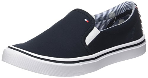 Tommy Hilfiger Damen Textile Light Weight Slip On Sneaker Blau (Midnight 403)