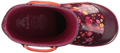 Kamik Flutter, Bottes de Pluie fille Pink (Dark PUR/Mauve FONCE)