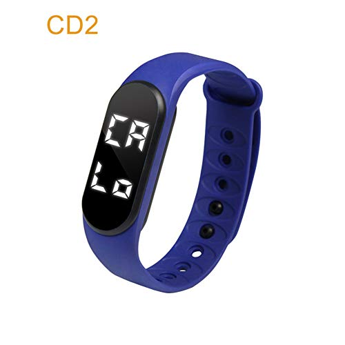 Nicololfle 3D Silikon Armband Uhr/Armband Schrittzähler Schrittzähler Fitness Band Aktivität Touchscreen Tracker Für Kinder/Männer / Frauen (Blau)