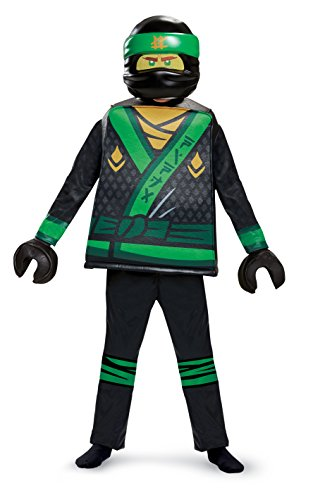 LEGO Ninjago Movie, Lloyd Movie Deluxe, Kostüm, M (7-8 J.), 127-136 - Lego Kostüm Kinder